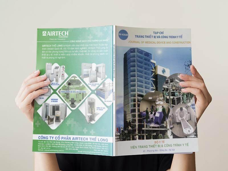 Airtech Thế Long trên tạp chí trang thiết bị bộ y tế