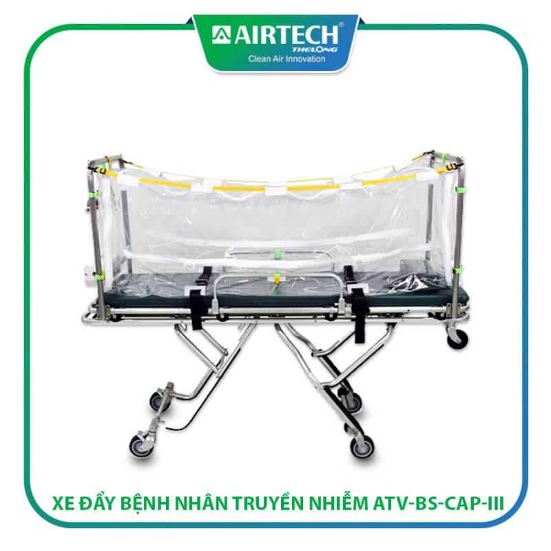 Xe đẩy bệnh nhân truyền nhiễm - băng ca xe cứu thương cách ly bệnh nhân trong quá trình vận chuyển